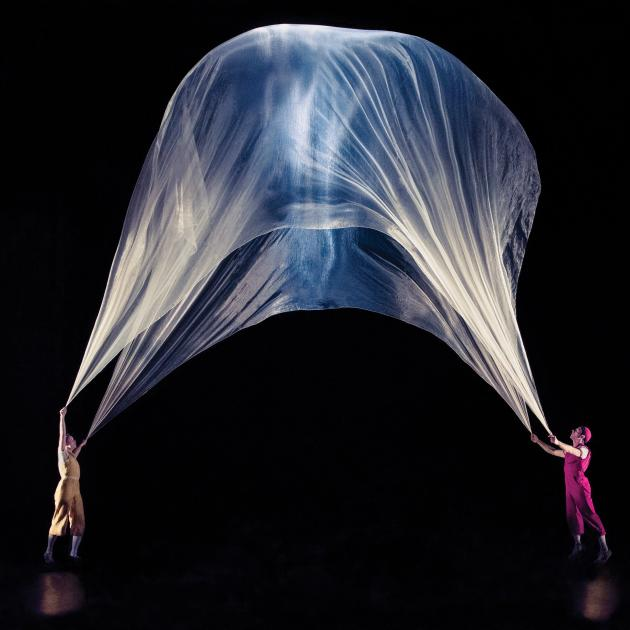 The show uses air sculptures built in collaboration with Daniel Wurtzel and animated by an array...
