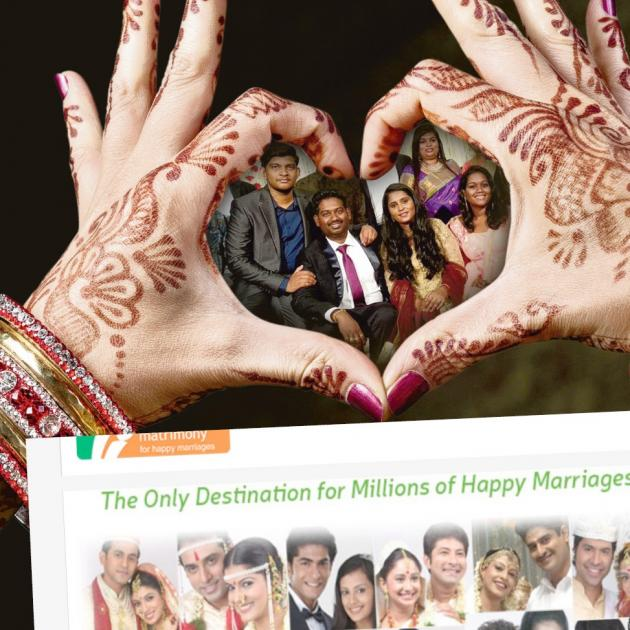 Inside the hands: Midhun Shankar and his wife Meera Mohan  and their wedding party on the day of...