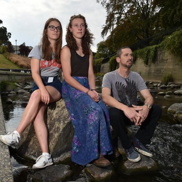 Students for Environmental Action Otago members (from left) Eilish Austin (22), Katrina Thompson ...
