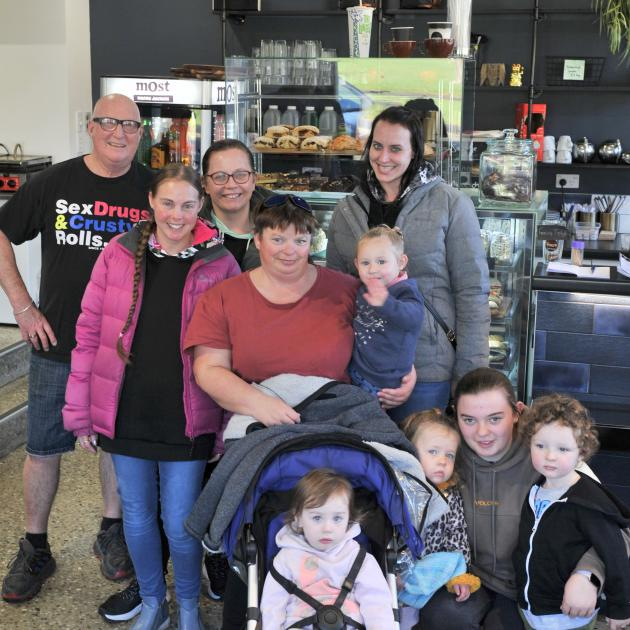 Having their final Tuesday get together at Crusty Corner in North East Valley are (back row from...