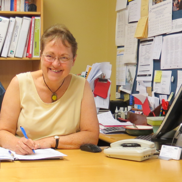 Retiring Dunedin Budget Advisory Service   executive officer  Shirley Woodrow still hard at work on  one of her last  days in the job she has held for 26 years.