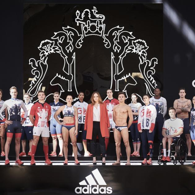 Stella McCartney (centre right) with Team GB. Photo: Bang Showbiz