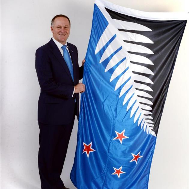 Mr Key preferred the other choice, designed by Kyle Lockwood. Photo: ODT
