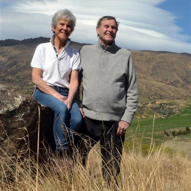 Mary and John Lee in the Cardrona Valley. Photo by Stephen Jaquiery