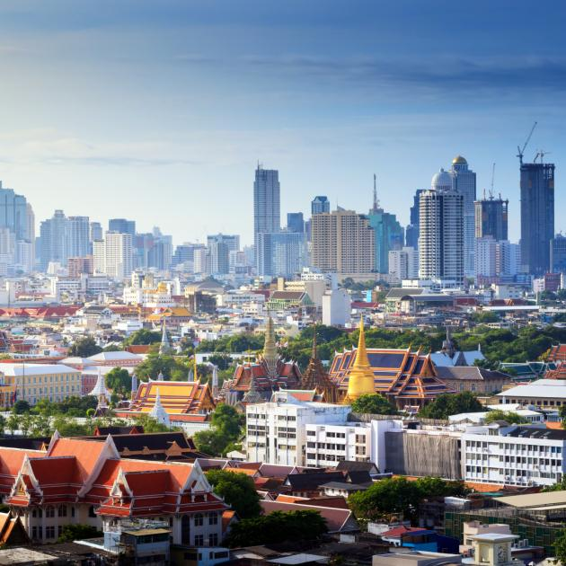 The city of Bangkok showing the Grand palace. Photo: Getty Images