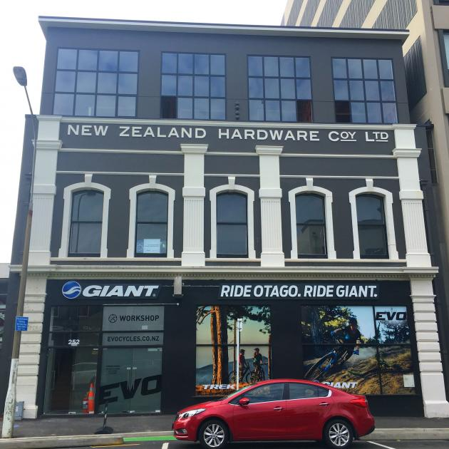 One of the most ambitious redevelopments on this year's streetscape list is Jared Palmer's New Zealand Hardware Building in Cumberland St. Photo: Otago Daily Times