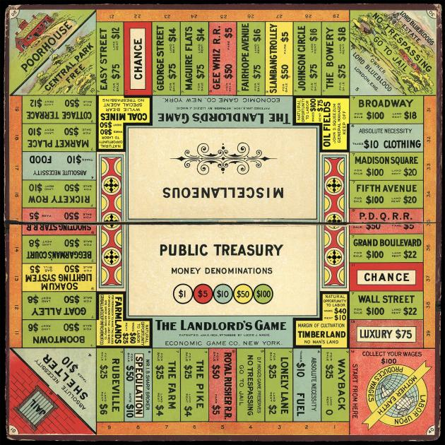 The Landlord's Game, which preceded Monopoly, was designed to illustrate the benefits of a land...