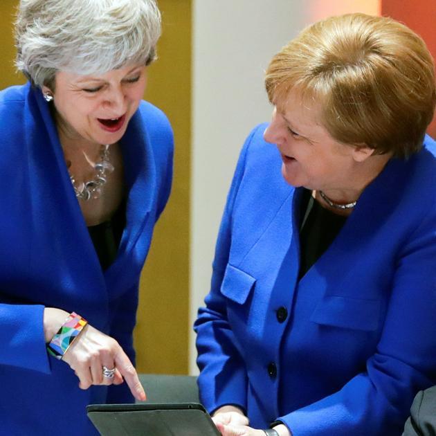 Theresa May and Angela Merkel. Photo: Reuters