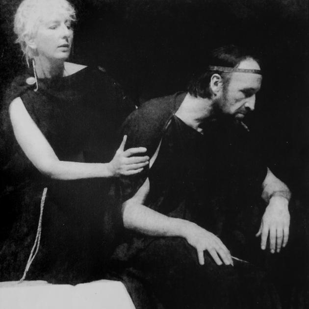Ralph Johnson and Marilyn Parker in their first production together, Oedipus the King, in 1994....