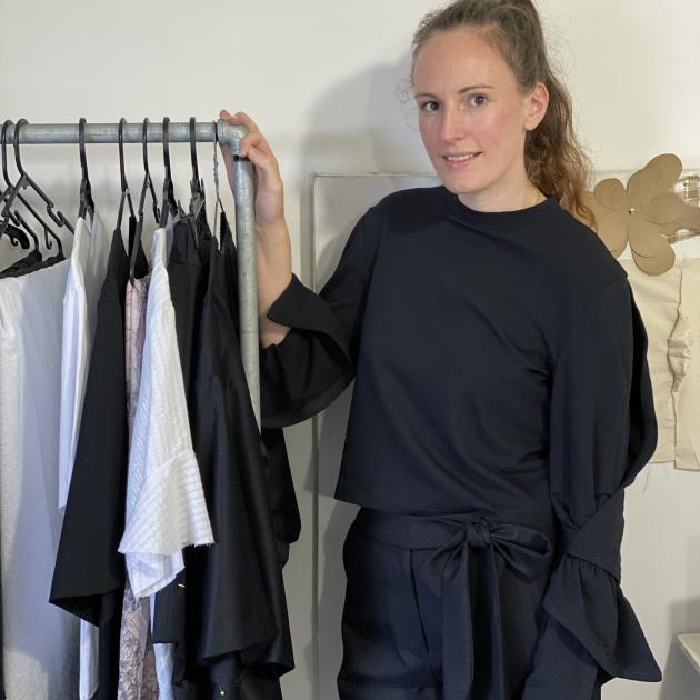 Tess McCone with some of her garments. PHOTO: SUPPLIED