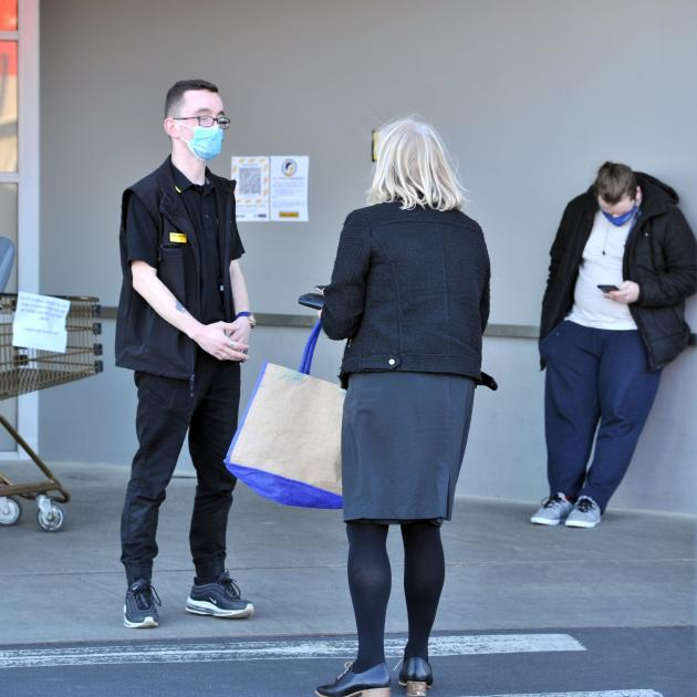 A customer at Pak'nSave is turned away after an IT issue forced the South Dunedin store to stop...