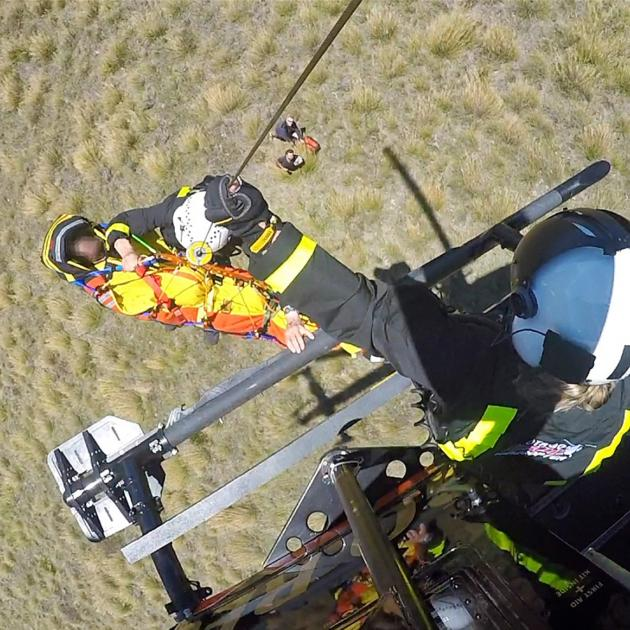 The man was flown to hospital in a rescue helicopter. Photo: supplied