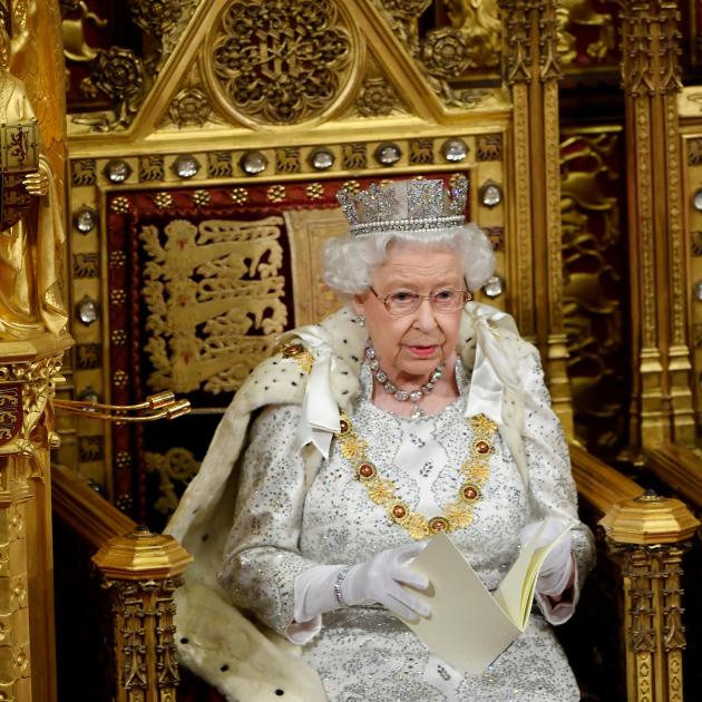 Queen Elizabeth delivers the Queen's Speech during the State Opening of Parliament in London....