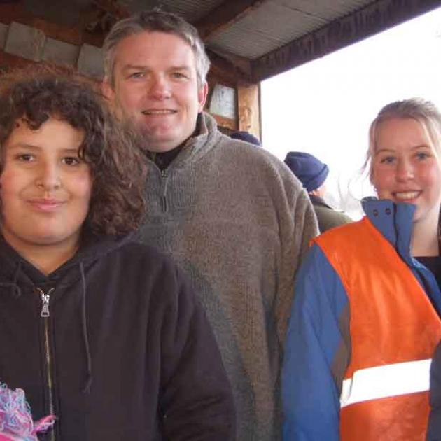 Malcolm Glover (12) from Ranfurly, Peter Heron from Waipiata and Stephanie Millar (17) from...