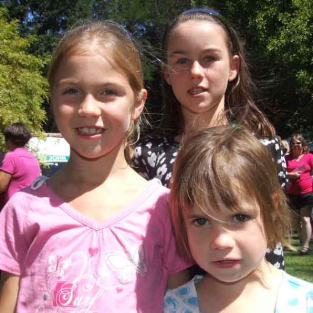 Simone Hamilton (7), Georgia Hamilton (8) and Olivia Hamilton (4), of Five Forks.