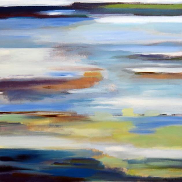 """Estuary After Rain"", by Angela Burns"