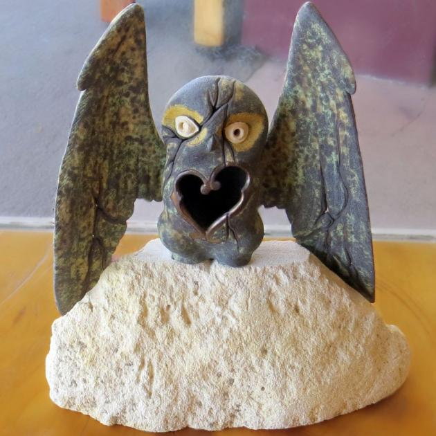 """Nocturne: Owl on Stone"", by Bron"
