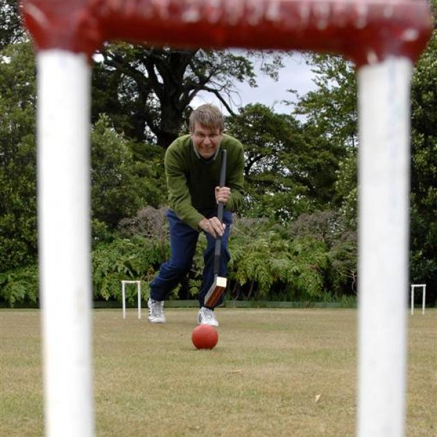 Anthony Ritchie, composer and croquet player, pictured at the Punga Croquet Club yesterday. ...