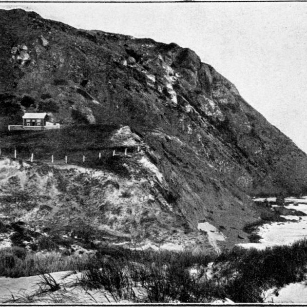 Black Head, a coastal landmark at the northern end of Green Island Beach, has some fine basaltic...