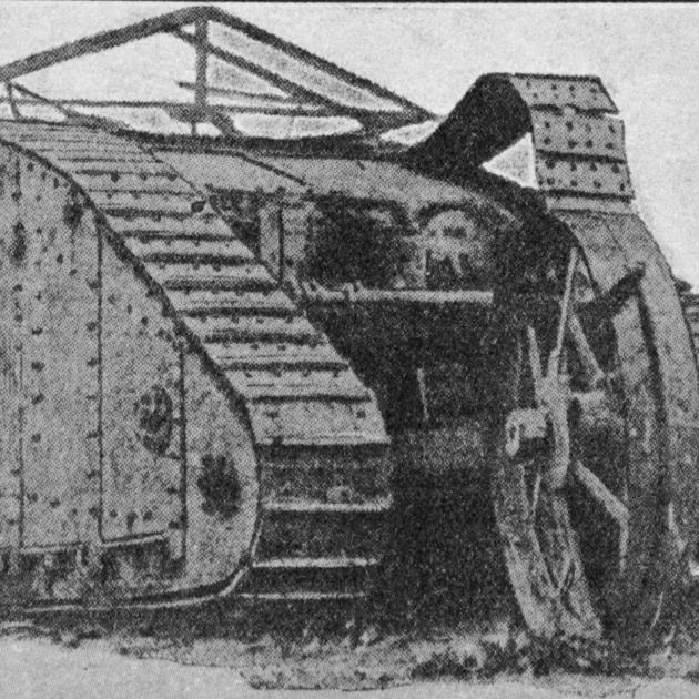 The first picture of a British tank, or Caterpillar tractor armoured car, used on the Western...