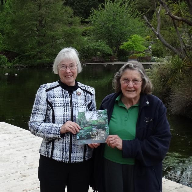 Garden writer Gillian Vine (left) and Friends of the Dunedin Botanic Garden volunteer Louise...