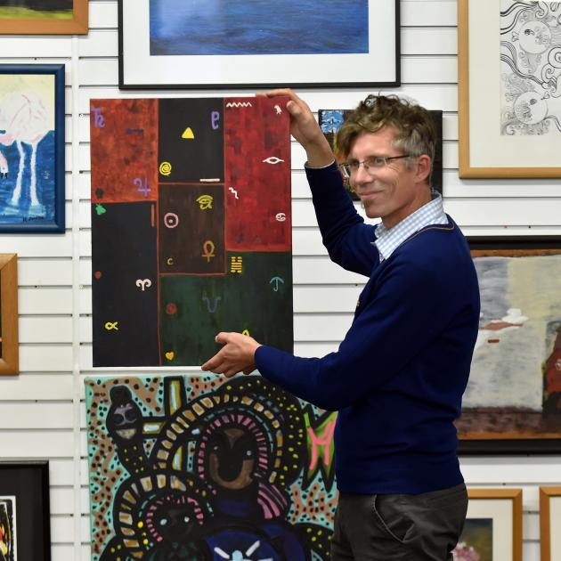 Artsenta director Paul Smith in the Dunedin art studio yesterday for people in the mental health...