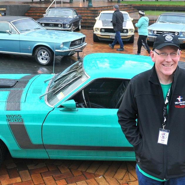 Mustang owner and Southern Mustang Club event organiser Robert King, of Dunedin, shows off his...