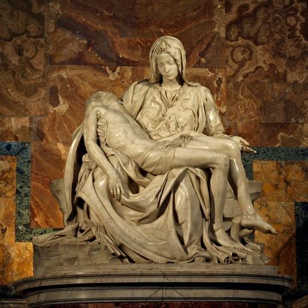 The restored Pieta, by Michelangelo, at St Peter's Basilica. Photo: Wikimedia Commons