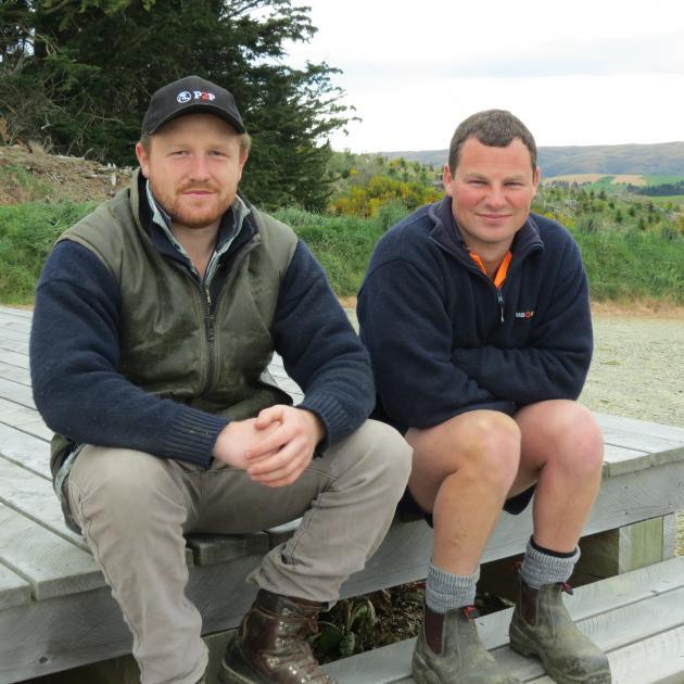 Logan Bain (left) and Caleb Neilson, of Thornicroft Station, near Lake Mahinerangi, both enjoy...