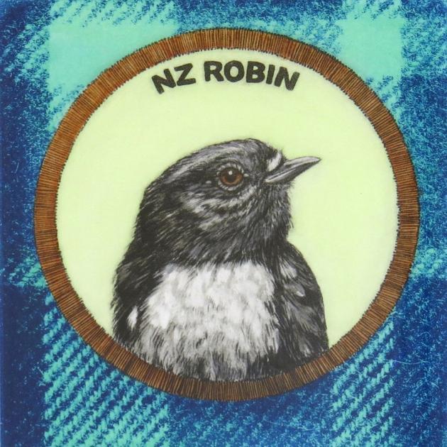 NZ Robin/Toutouwai, by Jo Ogier.