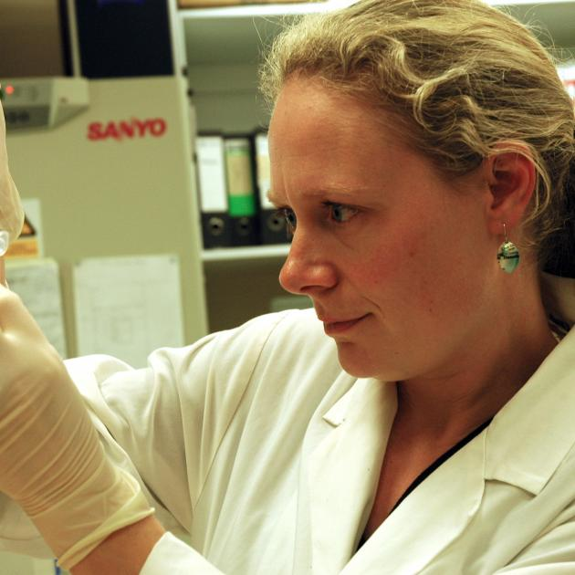 Dr Miriam Sharpe, of the University of Otago biochemistry department. Photos: Supplied