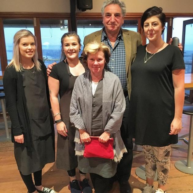 Downton Abbey star Jim Carter and his wife, Oscar›nominated Imelda Staunton (front), with...