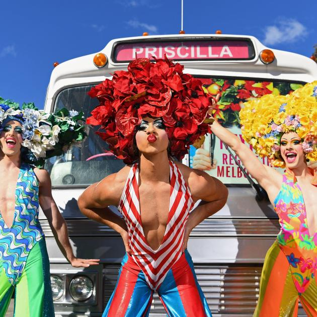 The tale of two drag queens and a transsexual, who take a road trip to the Australian Outback to...