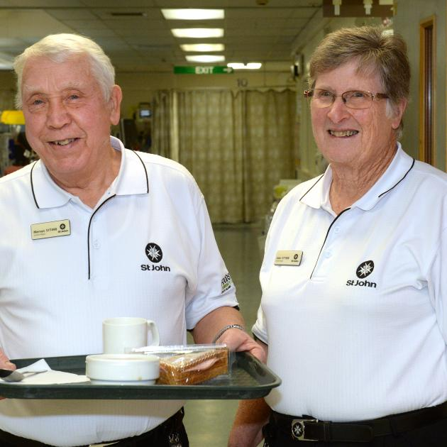 St John Friends of the Emergency Department volunteers Merv and Joan Wilson have been offering...