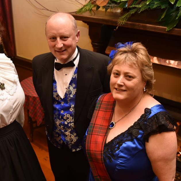 Christchurch trio (from left) Claudia Buchner and Patrick and Falma Clancy dressed to the nines...