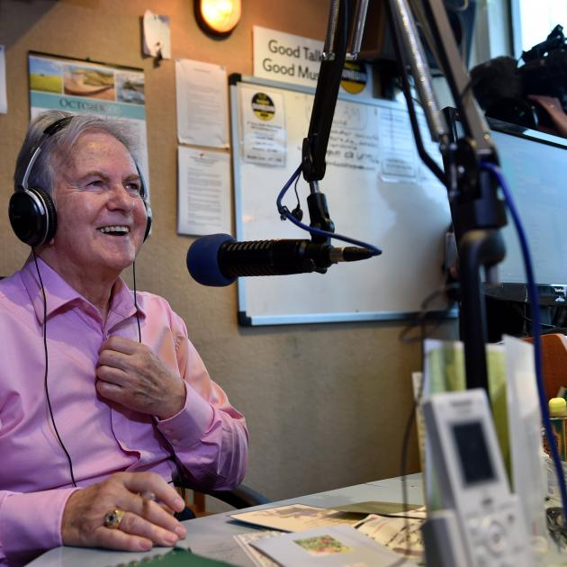 Broadcaster Neil Collins signs off from Radio Dunedin in 2015. Photo: ODT files