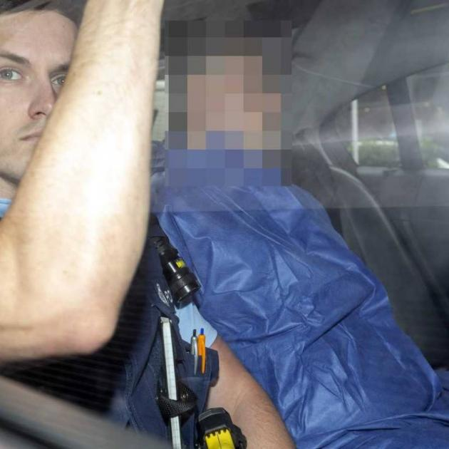 The man accused of murdering Grace Millane is driven to the Auckland District Court today. Photo:...