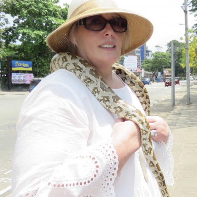 Debbie's new necklace. Photo: Deborah Heron