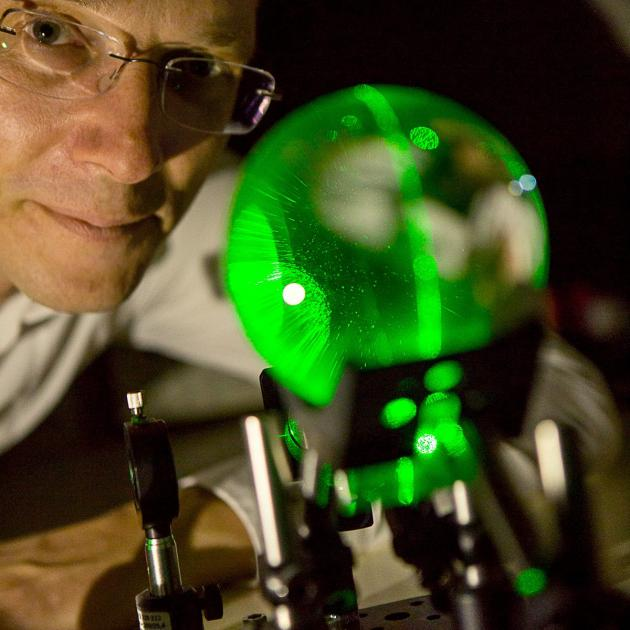 Dr Harald Schwefel, of the University of Otago physics department and Dodd-Walls Centre, with a...