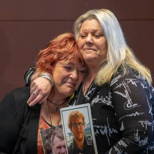 Pike River victims' family members Anna Osborne, left, and Sonya Rockhouse are happy to finally...