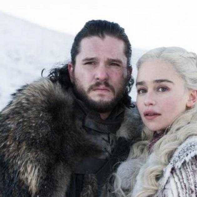 Jon Snow (Kit Harington) and Daenerys Targaryen (Emilia Clarke). Photo: Supplied