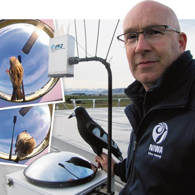 Lauder Niwa atmospheric technician Michael Kotkamp displays a warning decoy and some of the...