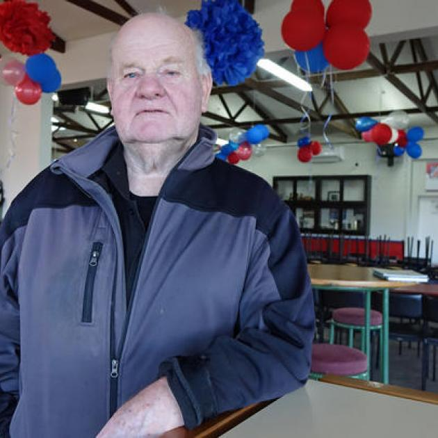 David Dick at Harbour Rugby Club's Port Chalmers clubrooms. Photo: RNZ