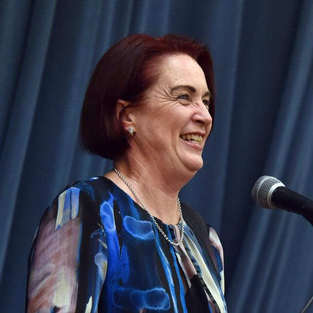 New Lynn Labour MP Deborah Russell speaks during the annual Dame Dorothy Fraser lecture yesterday...