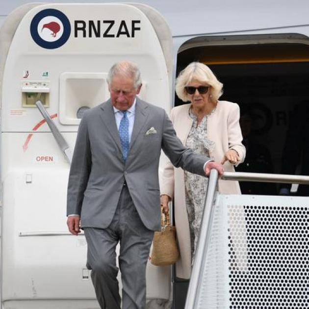 Prince Charles and the Duchess of Cornwall arrived in Auckland yesterday. Photo: Supplied