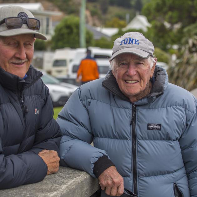 Moncks Spur resident Denis Quane, 77, and Redcliffs resident Tony Johnson, 90, were both...