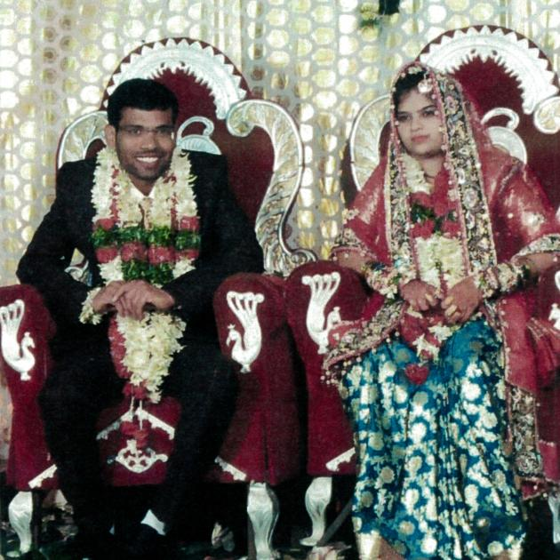 Younus Mohammad and his wife Sameha Tharannum, on their wedding day. PHOTO: SUPPLIED