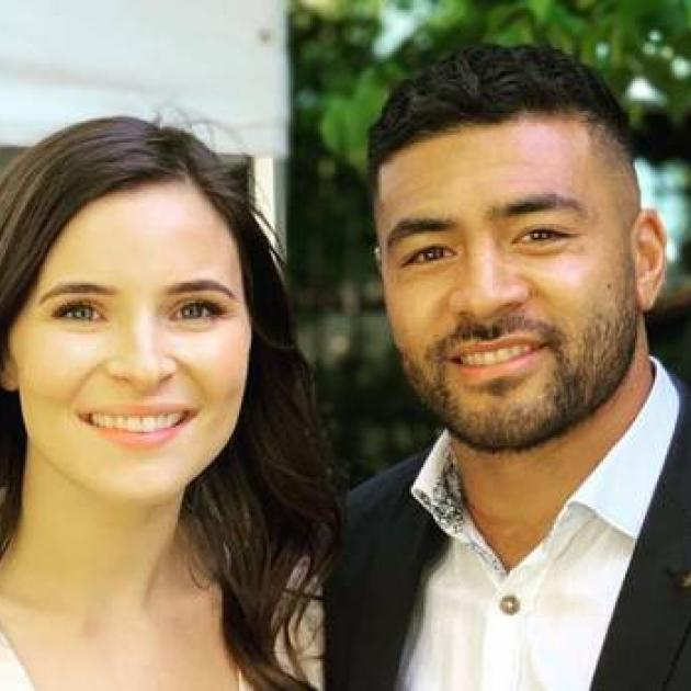 Sophie Vieceli and Richie Mo'unga were married in Christchurch on Sunday. Photo: Instagram