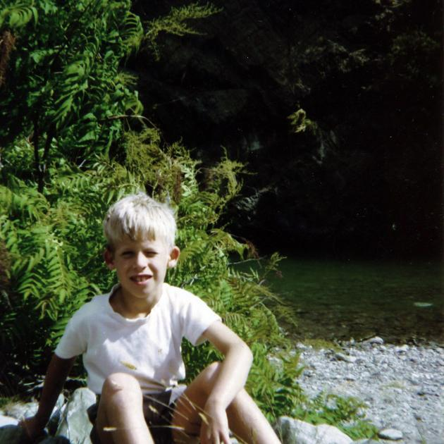David's childhood was settled and secure, much of it spent outdoors. Photo: Supplied