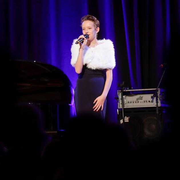 Monet Schutte, 13, performed her song 'Like You Did Before' at the Vienna Concert Hall, Austria...